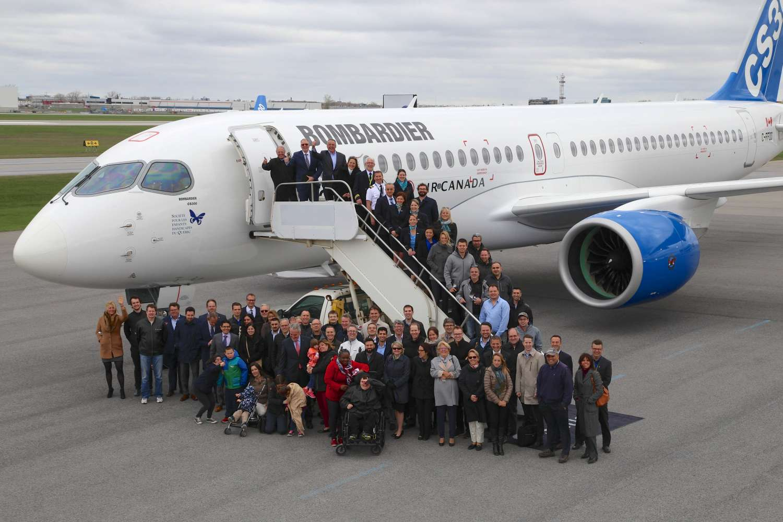 Le premier vol nord-américain avec passagers de l'avion CS300 donne des ailes à la Fondation Papillon