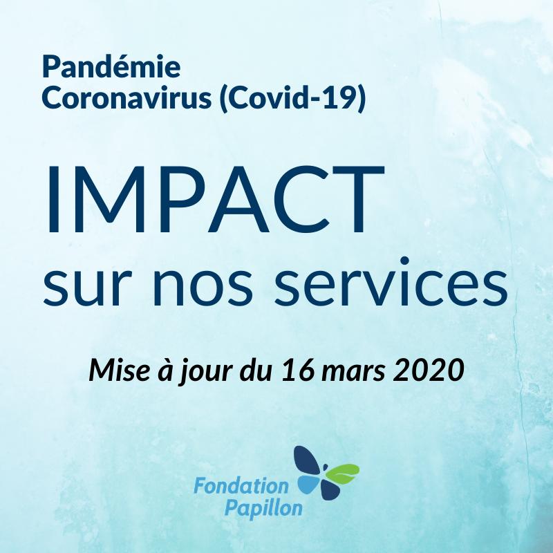 Mise à jour 16 mars Covid-19
