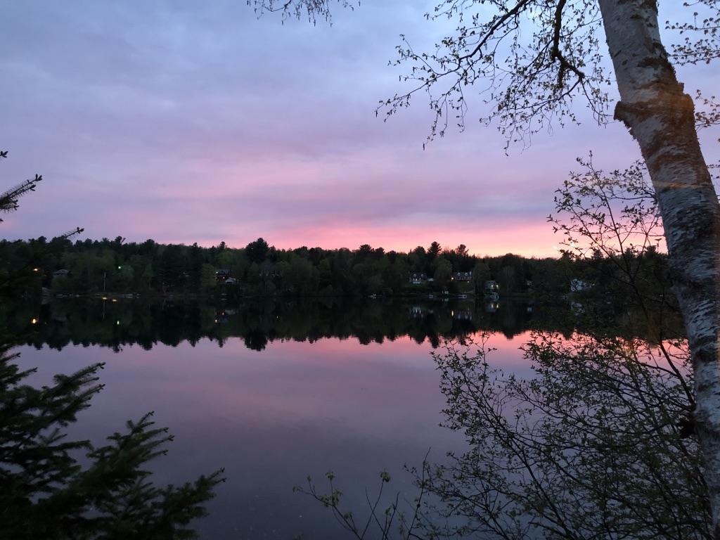 Lac Pierreau coucher du soleil