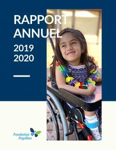 Rapport annuel Fondation Papillon - 2019-2020