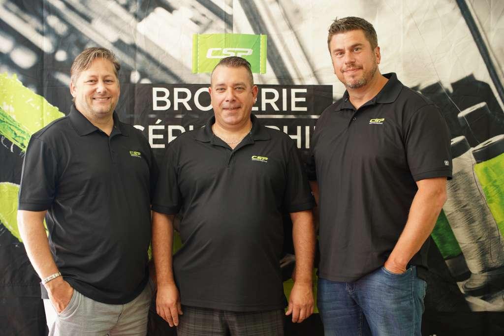 Sébastien, Martin et Éric Sylvestre, propriétaires de Créations Style Plus.
